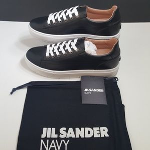 NEW!Jil Sander Navy Castiel Lace-Up Shoes
